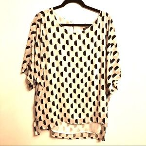 Vince Camuto White And Black Blouse Size XL